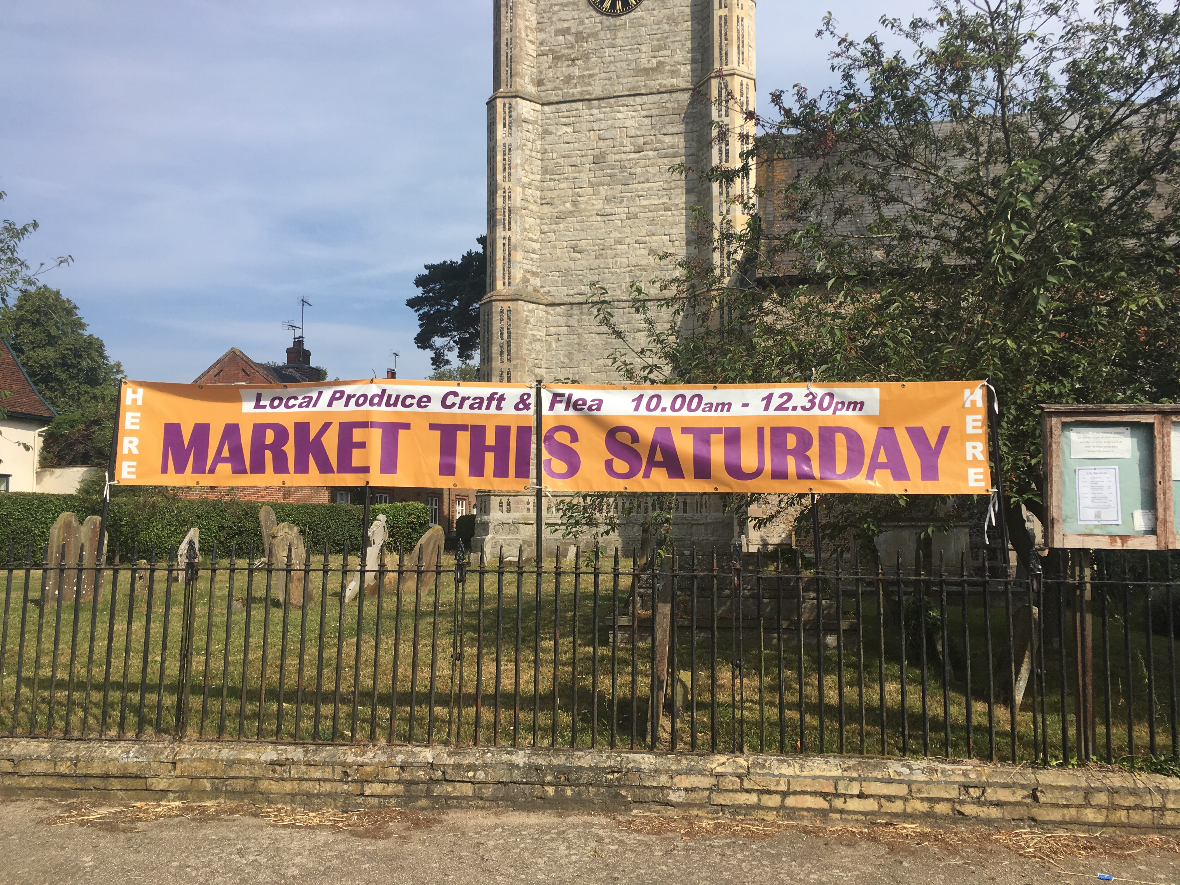 Laxfield market on today!